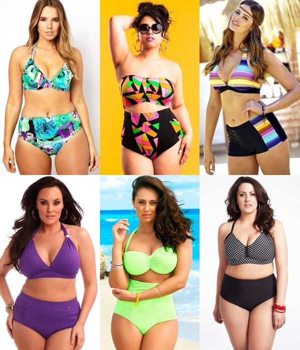 Plus Size High Waisted Bikini Bottom Ideas | Moderne Bademode XL ...