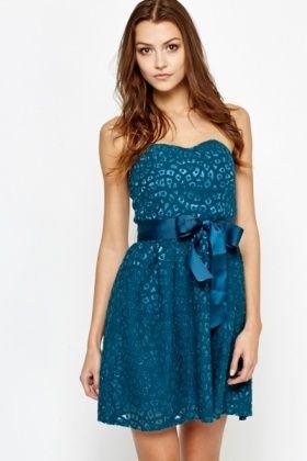 Cut Out Lace Bandeau Dress
