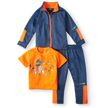 RBX Boys Tricot Jacket Tee and Pant Set