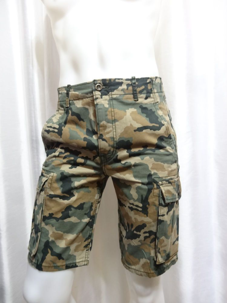 1a7568ff Levis mens Cargo I soft twill camo camouflage cargo shorts 29 30 33 34 NEW # Levis #cargo