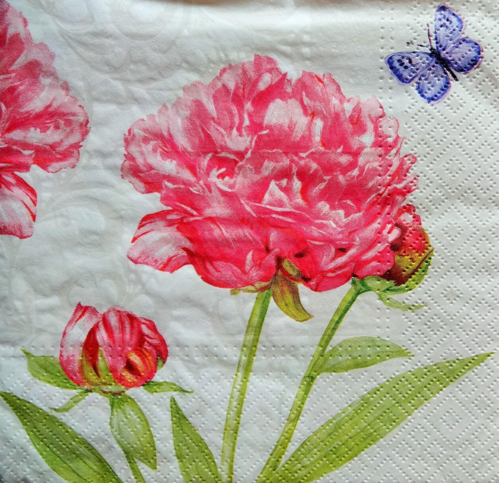 4 floral paper napkins pink flower napkins decoupage napkins 4 floral paper napkins pink flower napkins decoupage napkins collage napkins mixed mightylinksfo