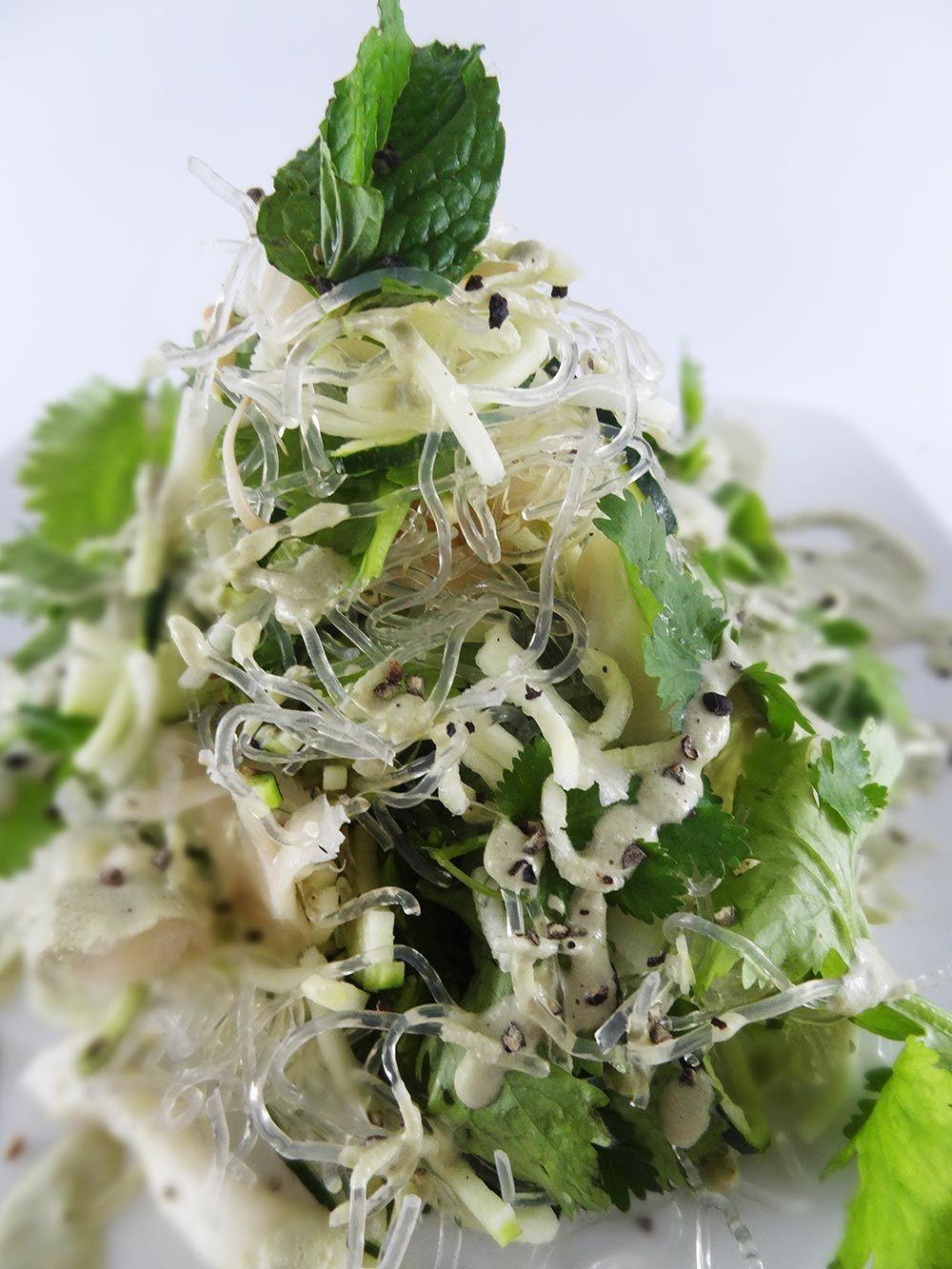 Raw Vegan Kelp Noodles With Creamy Mint Sauce Vegan Raw