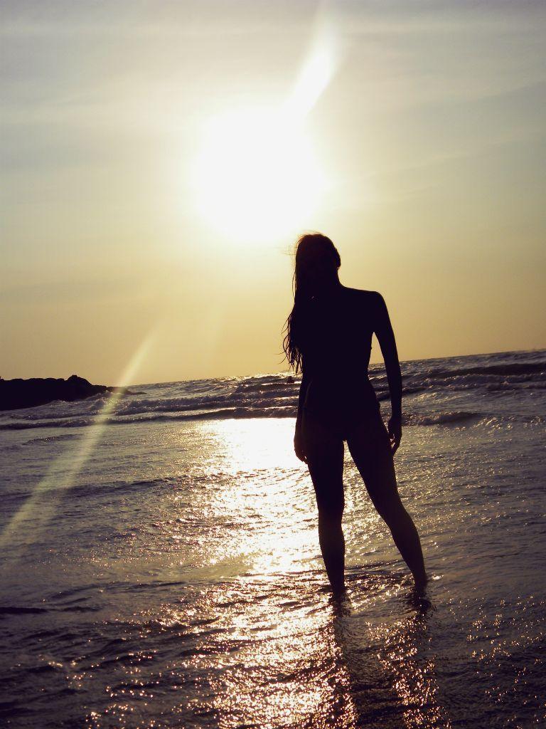 Contraluz En Las Playas De Bocagrande, Cartagena De Indias