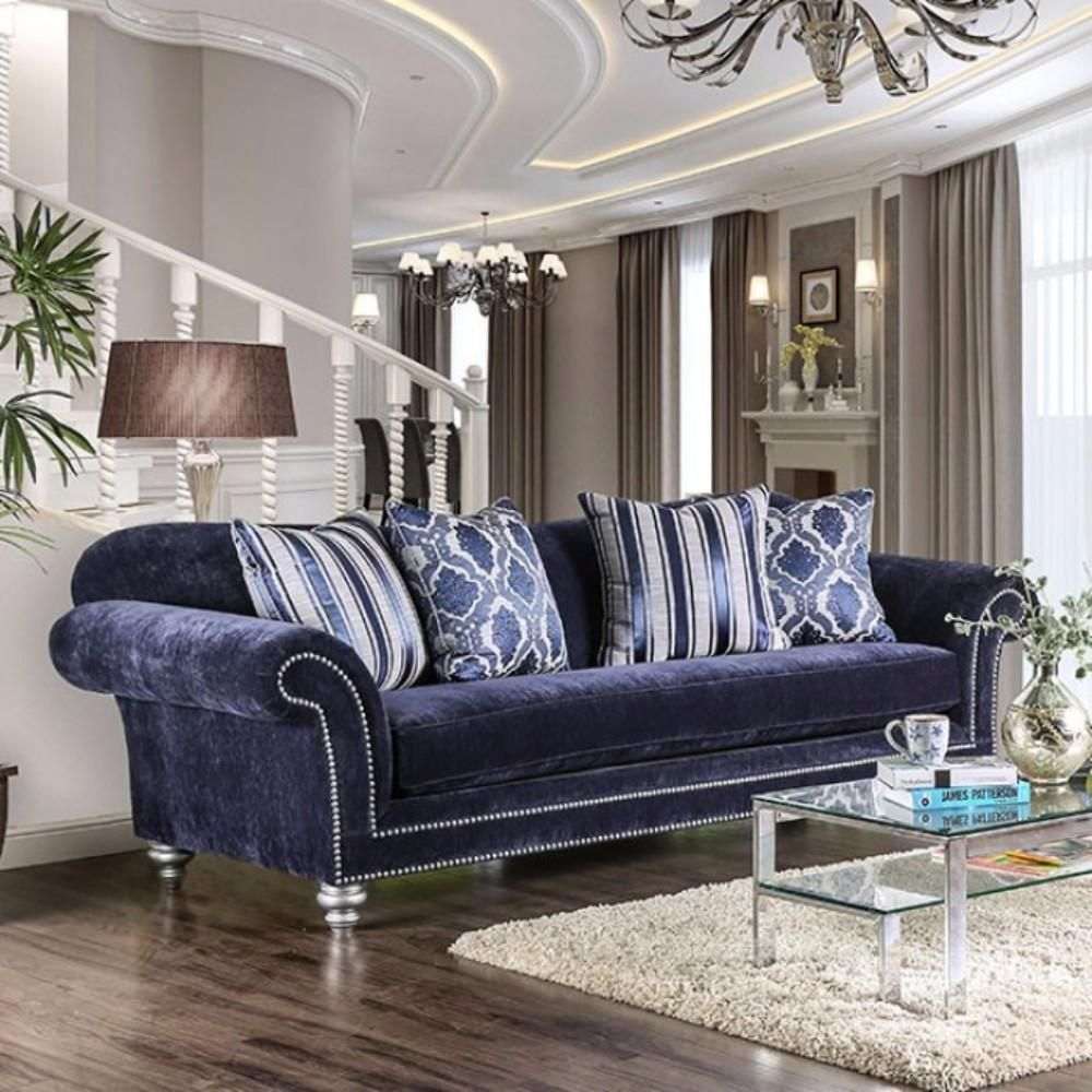 Best Classy And Charming Sofa Dark Blue Furniture Furniture 400 x 300