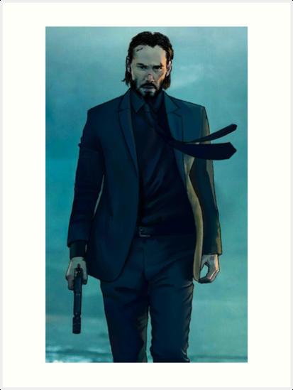 John Wick Art Print By Mjtulloch Keanu Reeves John Wick Keanu Reeves John Wick Movie