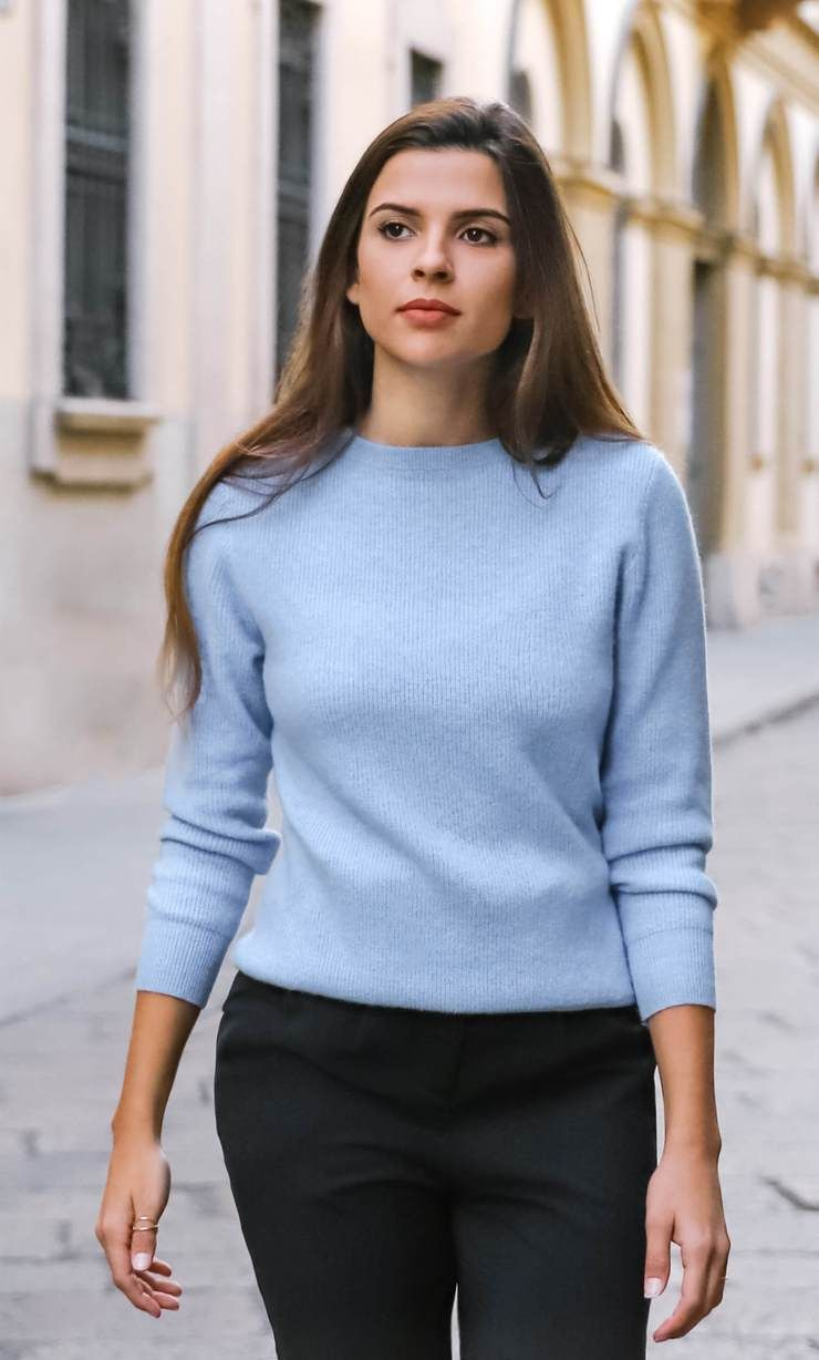 Woman Winter 100/% Cashmere Sweater Knitted Lady Pullovers Warm Thickening O-Neck