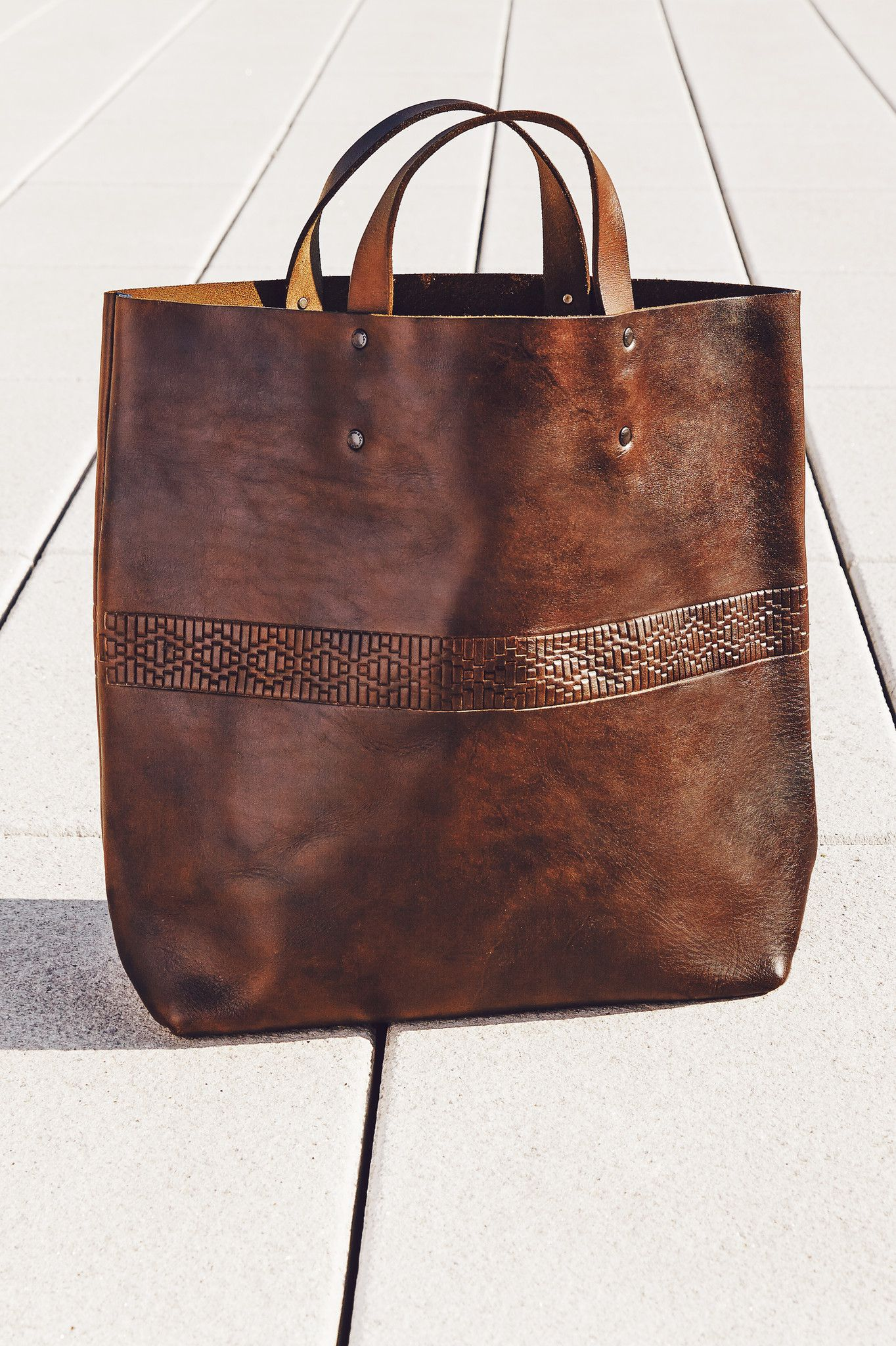 fd68280d2a9 Interlaced Leather Tote   Accompany   Health beauty   Pinterest ...