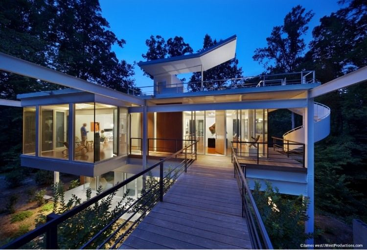 tonic design construction redesigned an abandoned mid century modern house for art collectors john