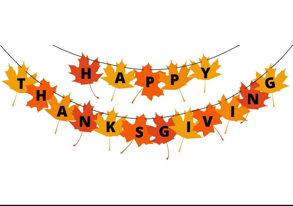 Thanksgiving banner. Decoration images