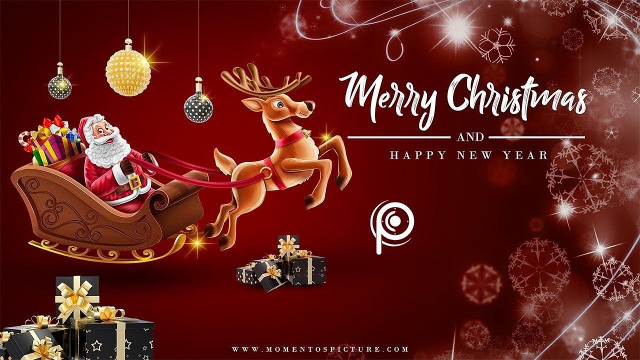 Merry Christmas New Year 2020 Wallpaper/Card/Poster Design