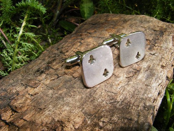 Two of Clubs Silver Toned Poker Cufflinks by GoldiesNaturalGems, $10.00