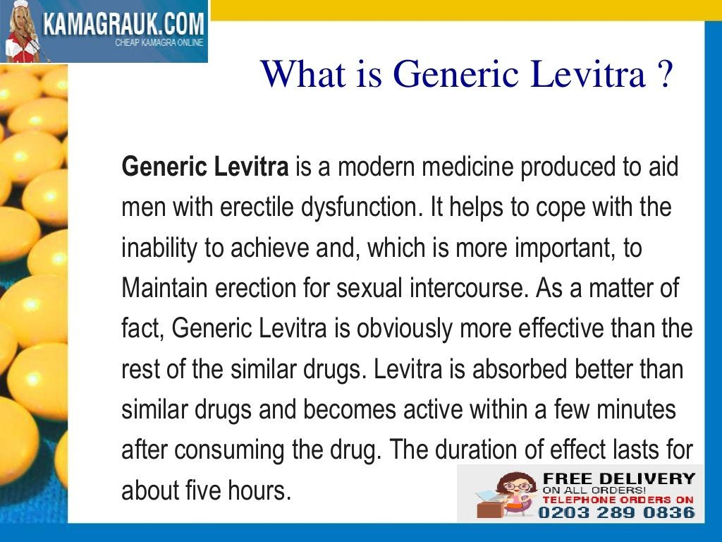 Men frequently often solve any type of problem by themselves, which is the reason why they feel guilty once they become not capable to resolve erectile dysfunction problems by themselves. But one of the best remedy to treat erectile dysfunction is Generic Levitra 20mg. One medication openly to treat this problem is #Levitra Tablets, which is among the best medications for this. Erectile dysfunction can influence any elderly age group of males.