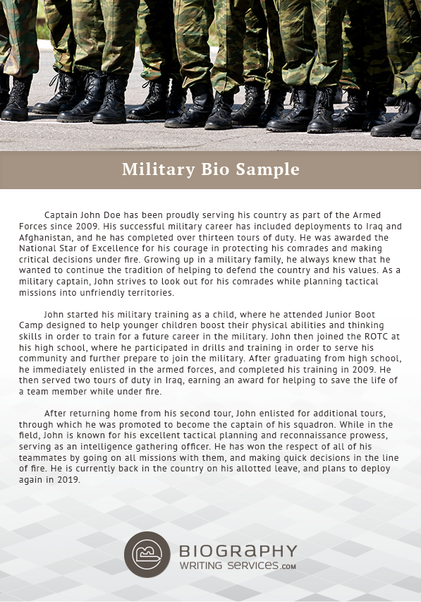 6798d366e01f6dce29d0422f93c5d6dd Template Cover Letter Job Military Bio Biography Sample Zgshpd on