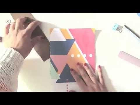Encuadernación cosida sencilla - YouTube