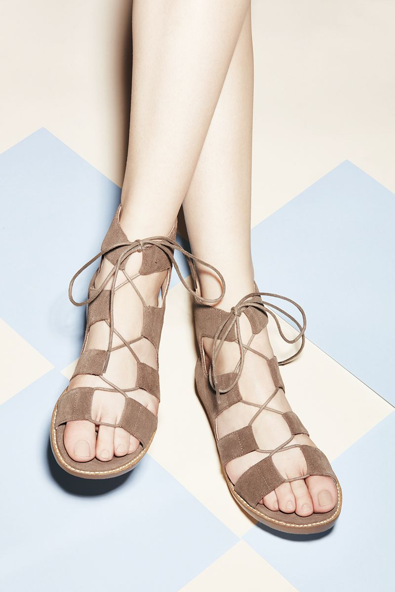 Suede lace-up sandals   Sole Society