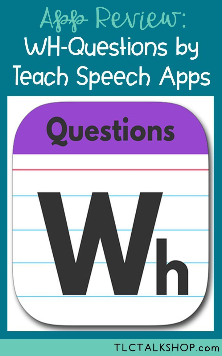 App Review & Giveaway WH Questions by Teach Speech Apps