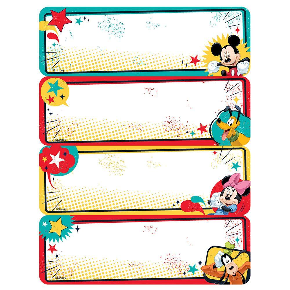 Mickey Label Stickers Eureka School Mickey Classroom