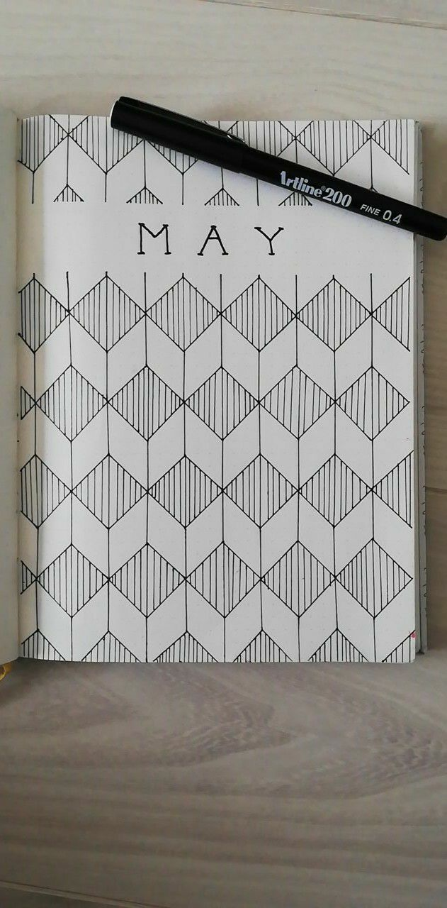 Love this geometric design for my month page in my Bullet Journal