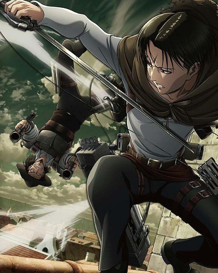 Season 3. AOT. Levi and Kenny Ataque dos titãs, Anime