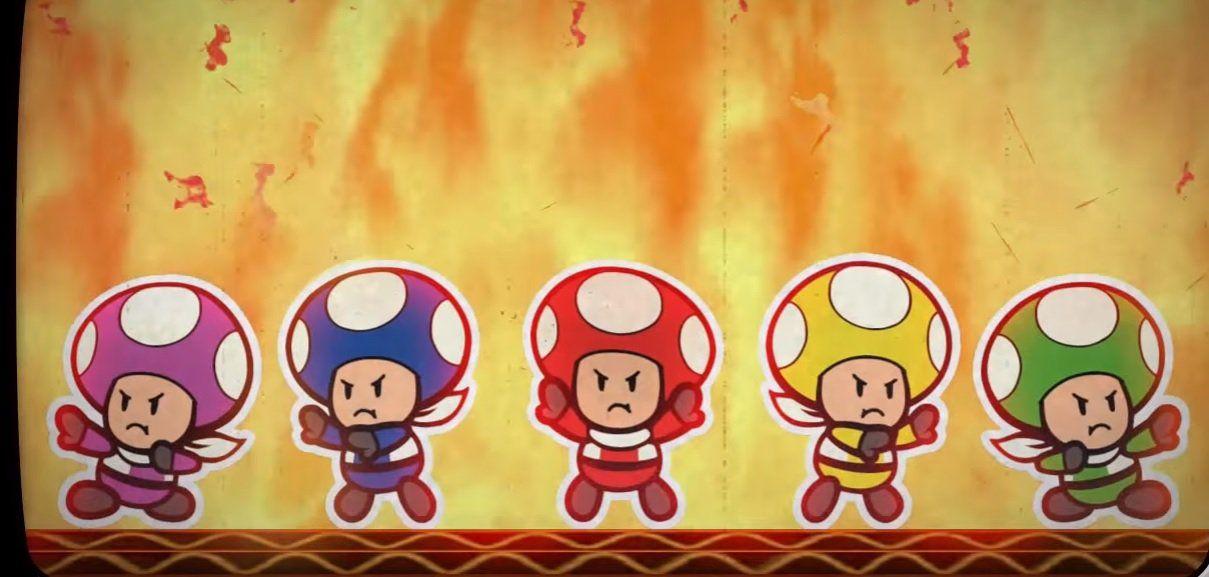 Paper Mario Color Splash details its Super Sentai team