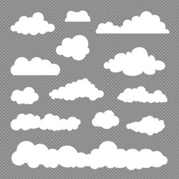 Set Of Cloud Collection Vector Cloud Clipart Cloud Collection Png And Vector With Transparent Background For Free Download Cloud Painting Acrylic Cloud Vector Png Clouds