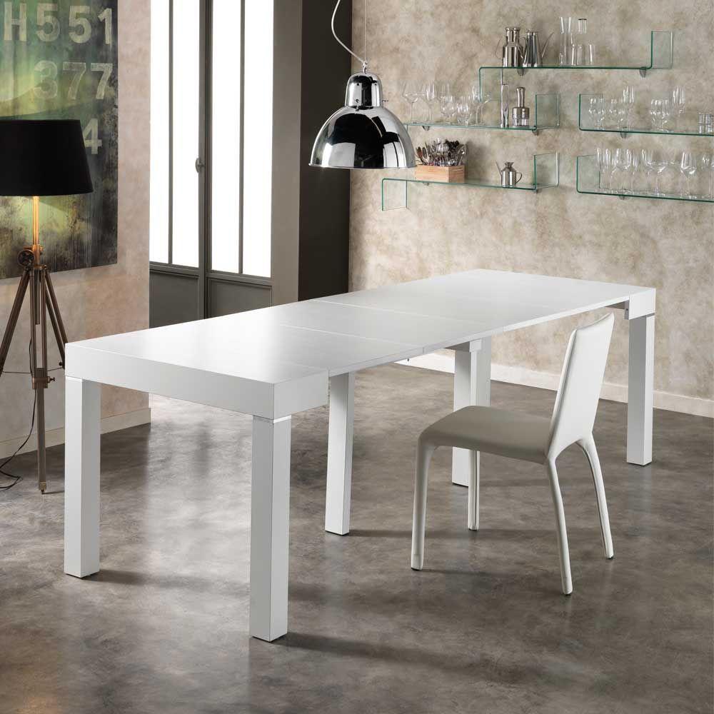 XL Esstisch in Weiß verlängerbar küchentisch,esszimmertisch ...