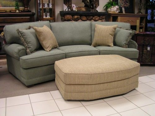 conversation couch | Smith Bros Seafoam Green Conversation Sofa & Ottoman - Conversation Couch Smith Bros Seafoam Green Conversation Sofa
