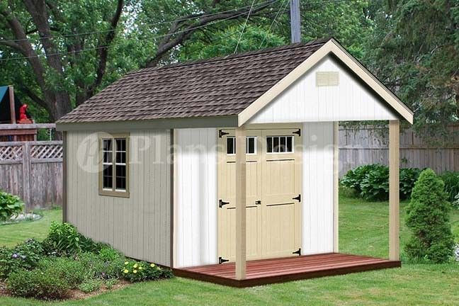 16 X 12 Cabin Shed Plans Loft Porch Shed P61612 Shed Feature These Samples Are Chosen At Random From Actual Plans Porch Plans Shed Plans Shed Plans 12x16