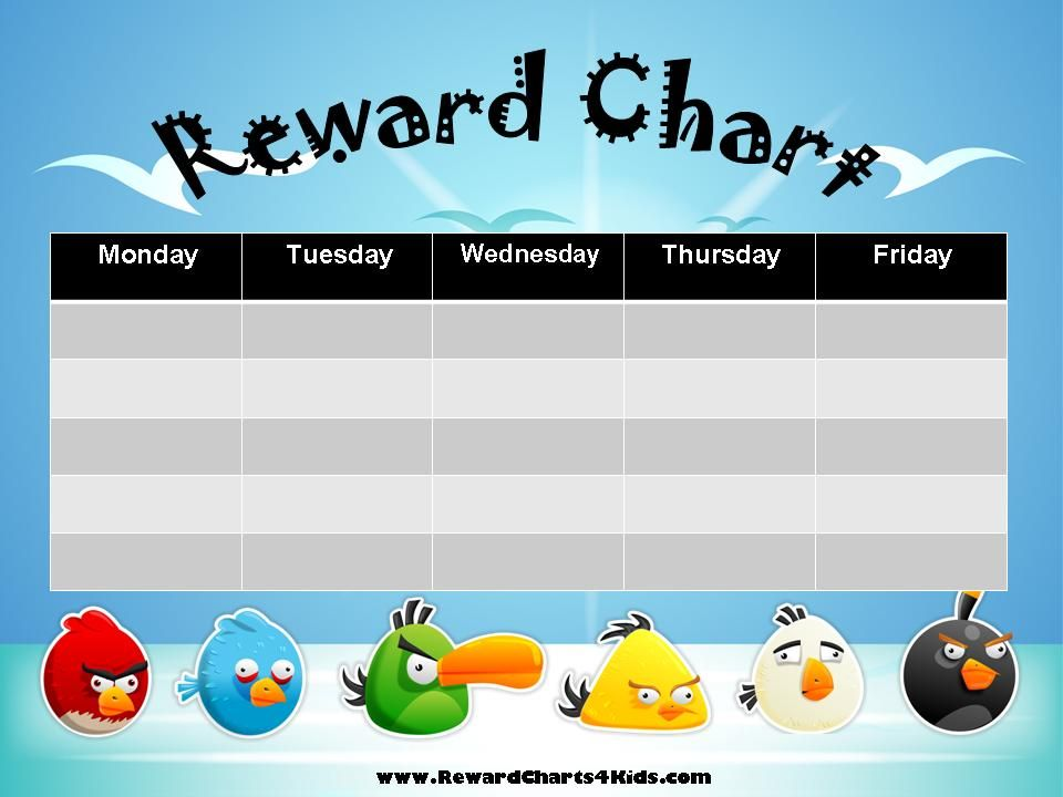 free printable reward charts anuvratinfo – Printable Rewards Charts