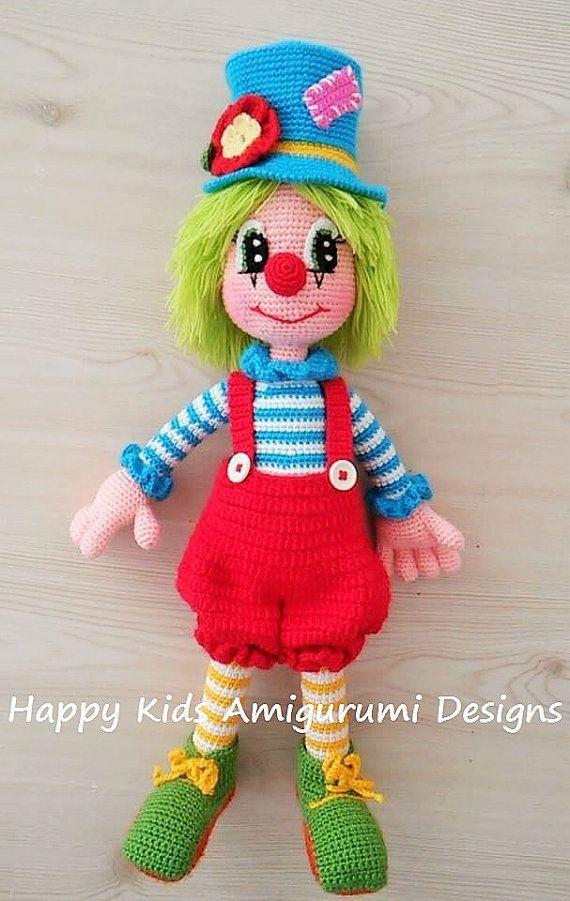 Lindo El Sr Payaso 2 Amigurumi Crochet Patrones Pdf Bambole