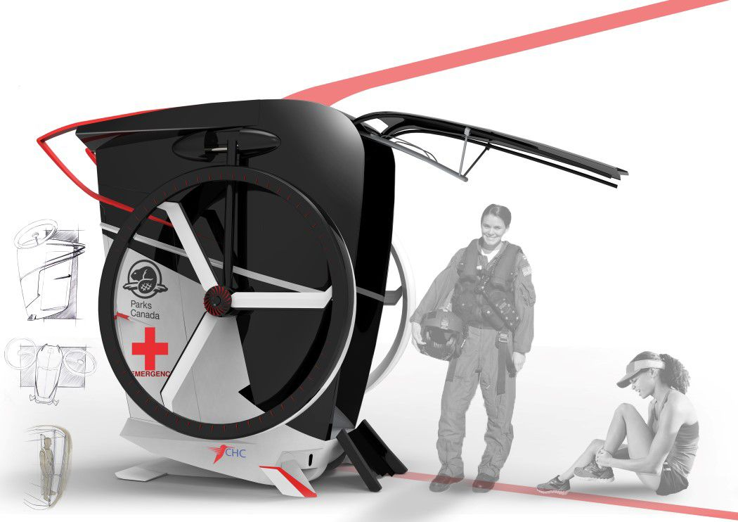 ambulance in the air yanko design flying tech yanko design transportation design design. Black Bedroom Furniture Sets. Home Design Ideas