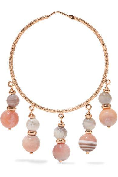 Carolina Bucci Recharmed 18-karat Gold Agate Hoop Earrings N7uCoS
