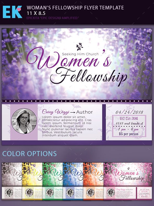 WomenS Fellowship Flyer Template  Flyer Template Template And