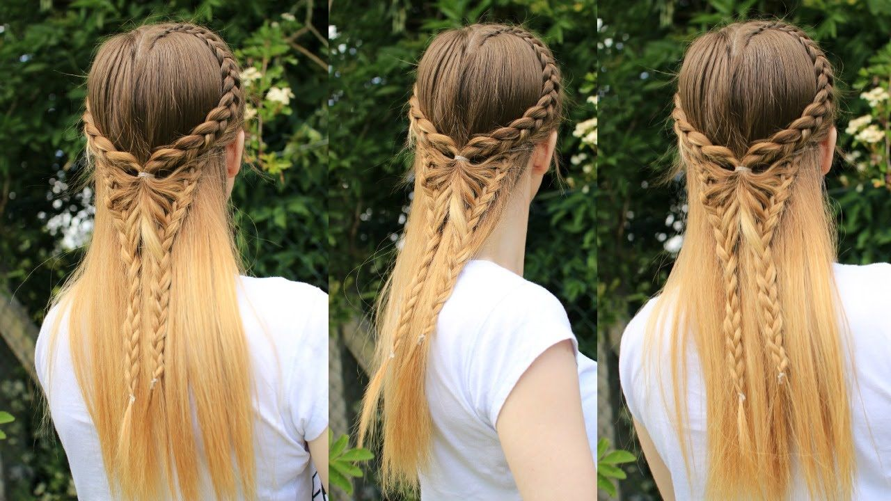 Half Up Half Down Butterfly Hairstyle Pinterest Inspired Hair Tutorial Butterfly Hairstyle Pinterest Hair Hair Tutorial