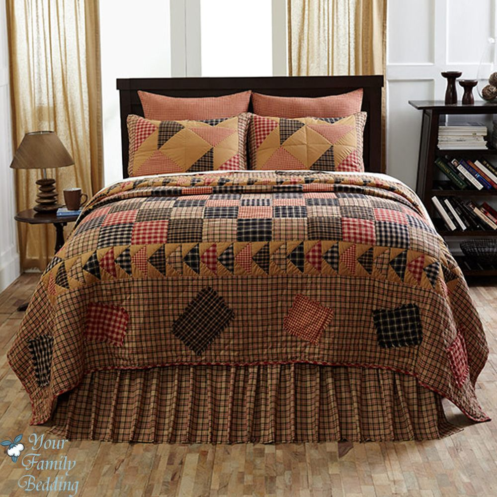 Details About Brown Country Plaid Patchwork Primitive Twin