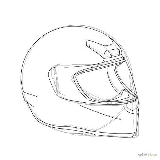 Motorrad In 2020 Motorradhelm Motorrad Fahrrad Zeichnung