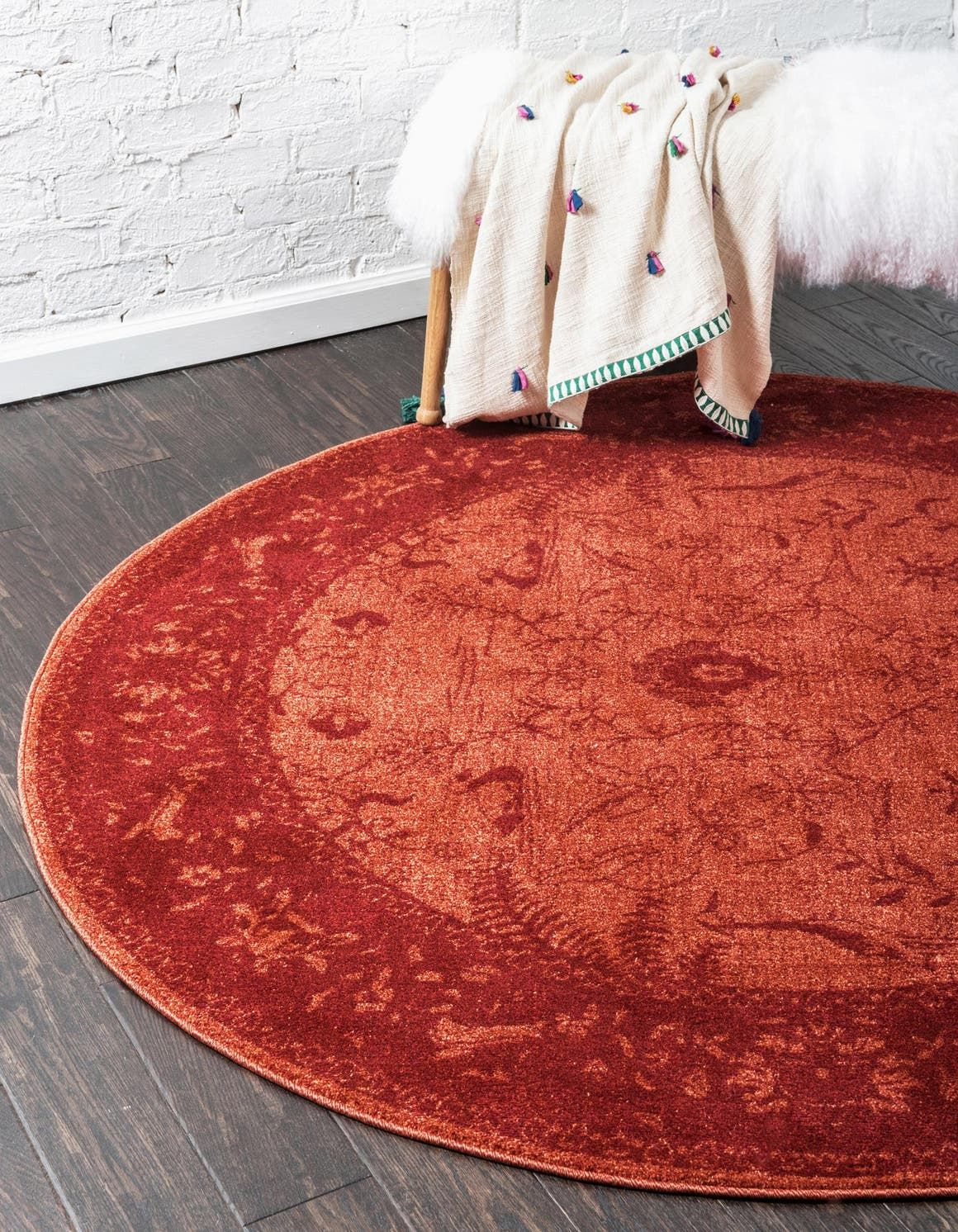 Rust Red Vista Area Rug Round Area Rugs Round Rugs Area Rugs