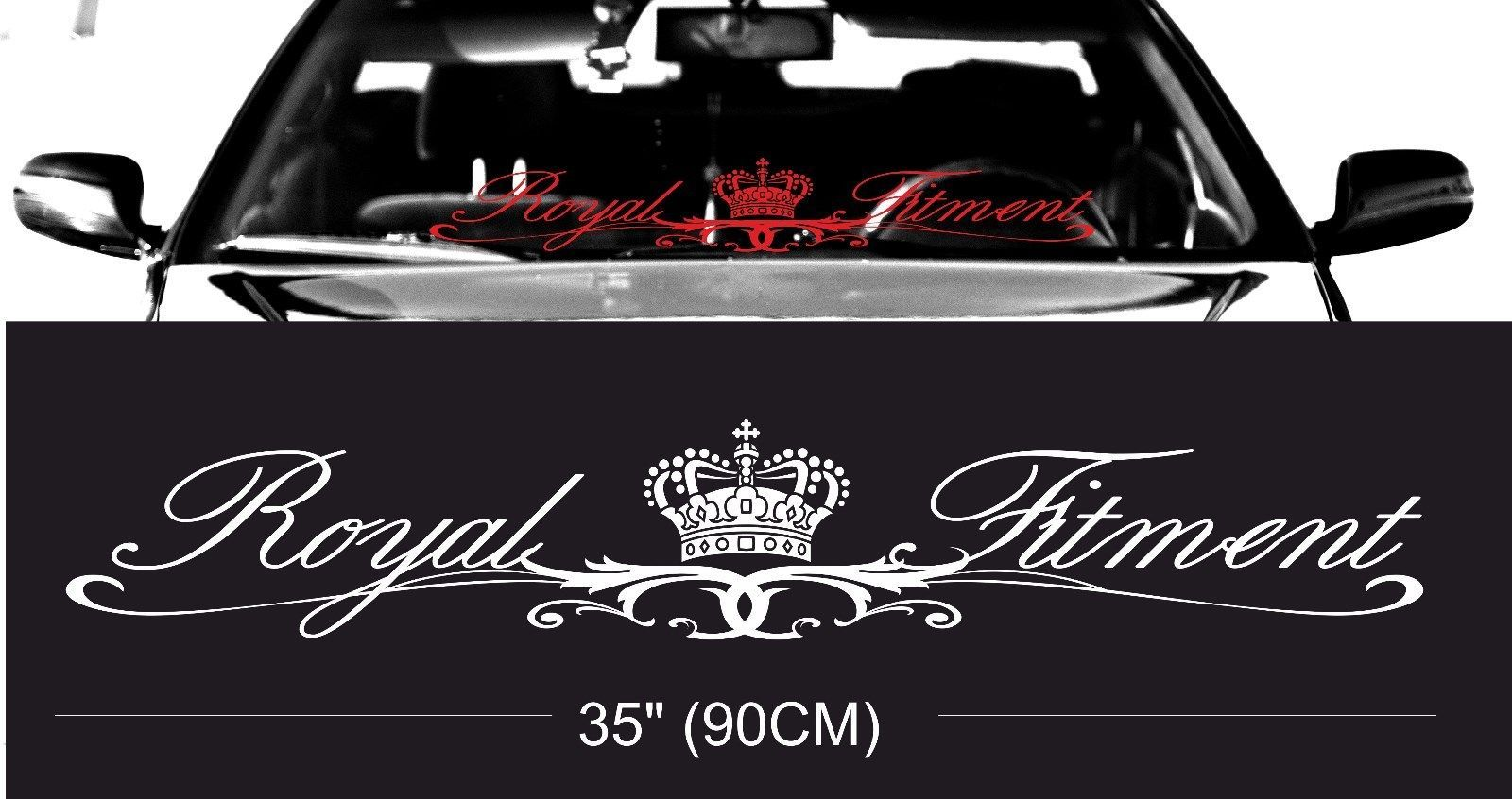 Compare prices royal fitment stance windshield windscreen front glass car jdm decal windshield decal