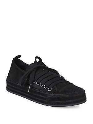 Ann Demeulemeester - Side-Lace Suede Sneakers