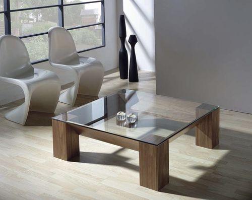 Mesa de centro moderna de cristal adra tadel grup - Mesas modernas de cristal ...