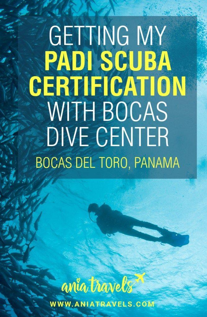 Getting my PADI Scuba Certification with Bocas Dive Center | Scuba ...