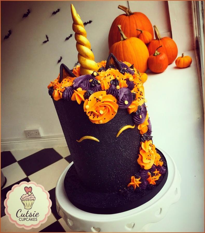 Halloween Unicorn by Cutsie Cupcakes