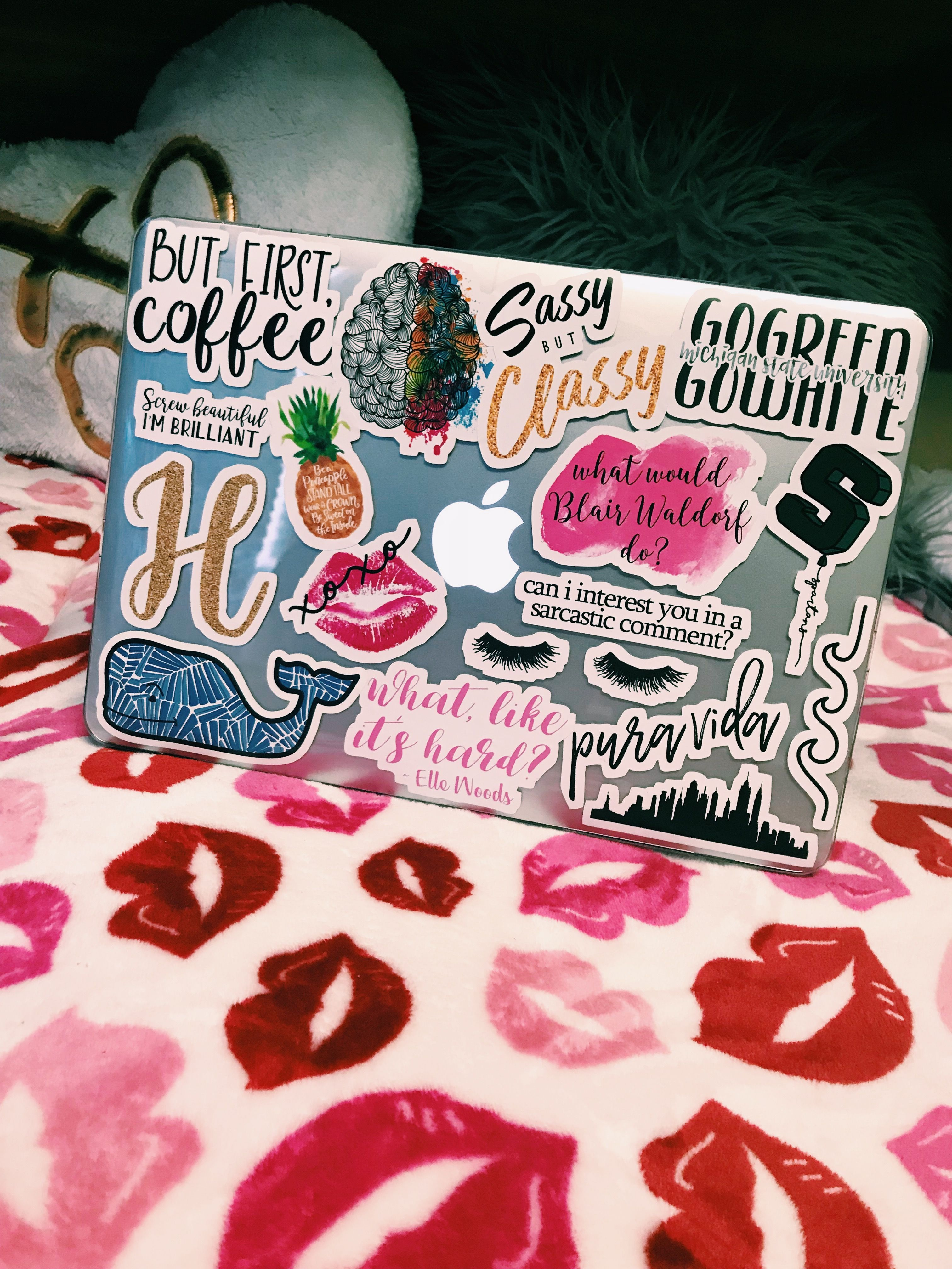 Preppy Redbubble Laptop Stickers Laptop Stickers Collage Cute
