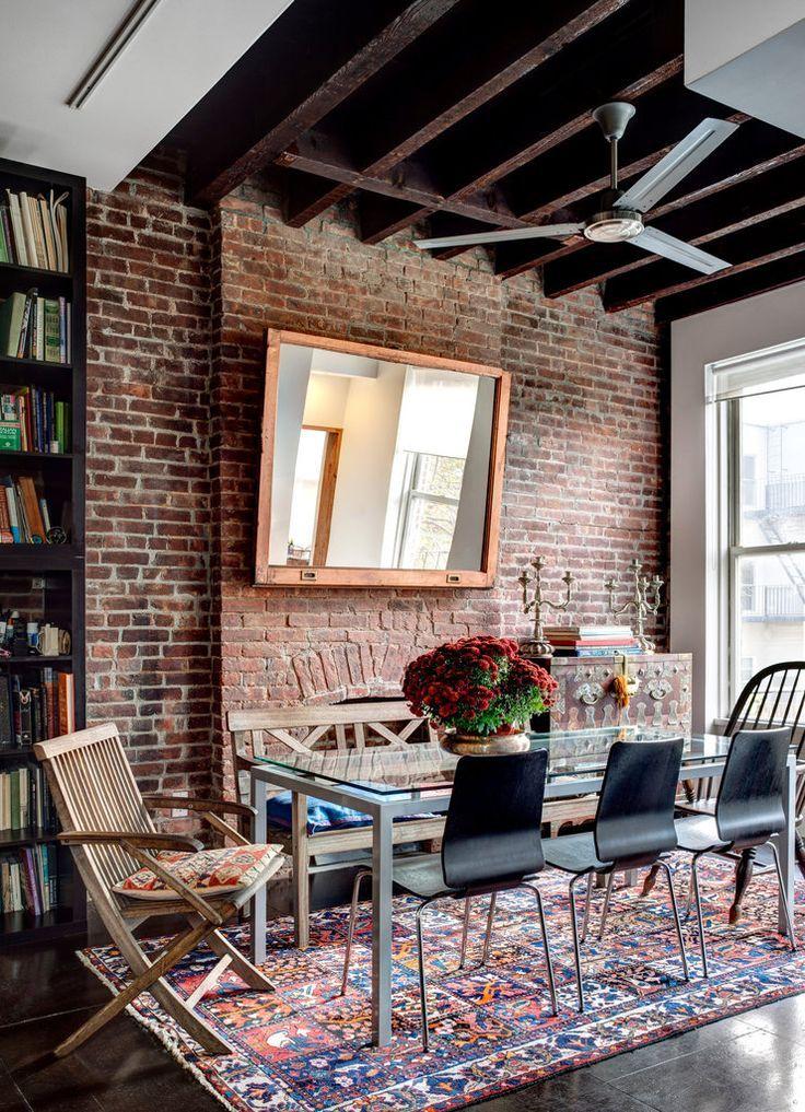 Interiors · I.De.A: Red Brick Walls In The Living Room