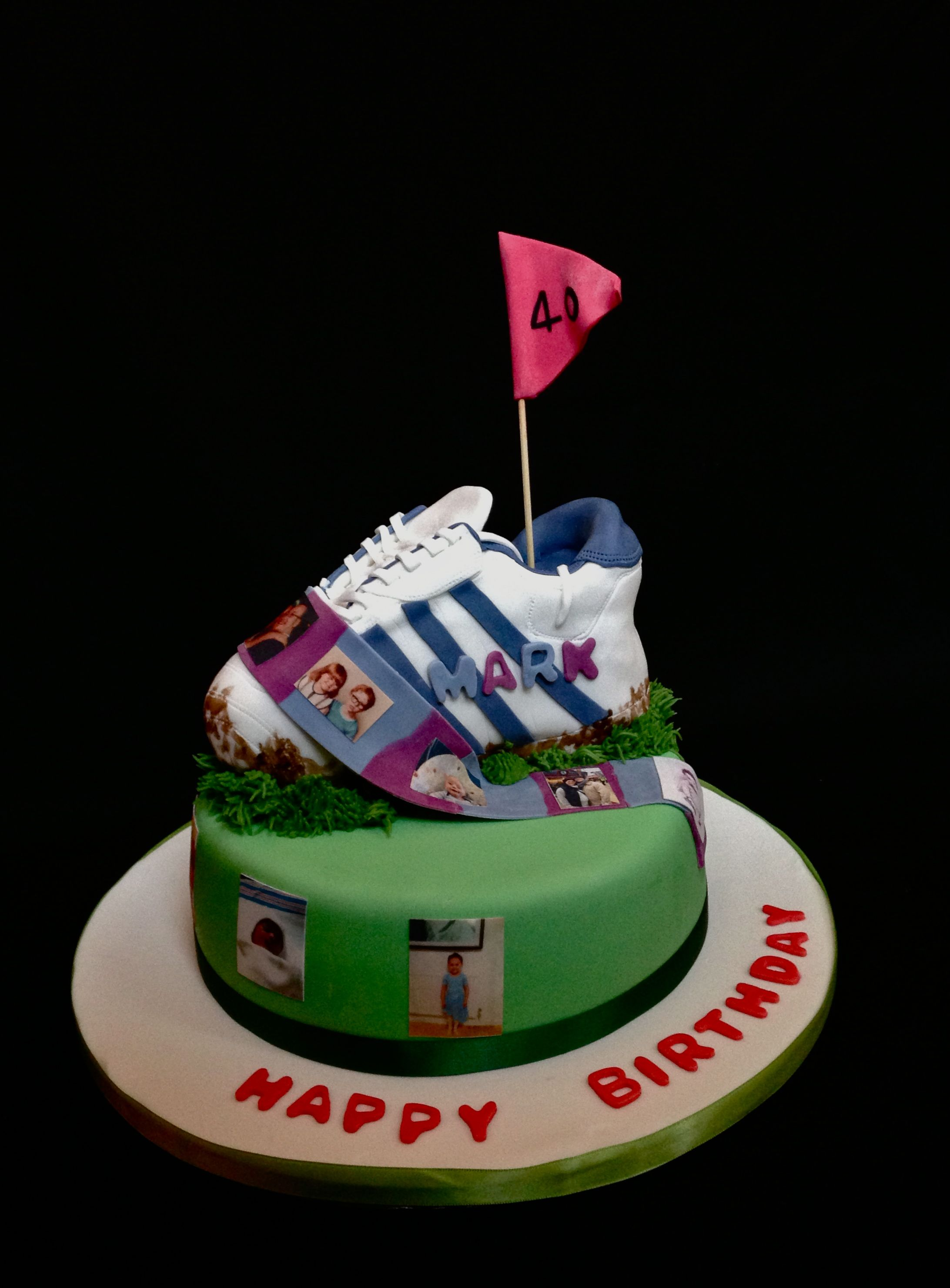 Football Shoe Cake With Edible Images Footballboot