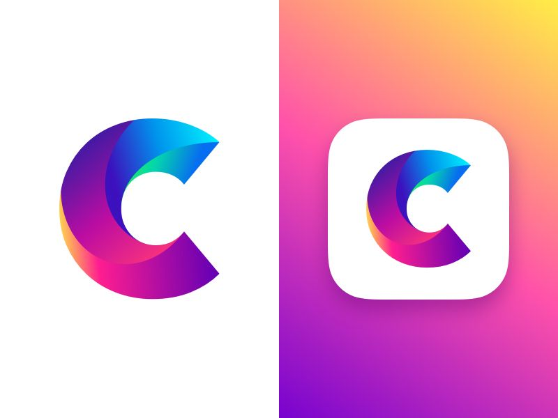 Letter C Concept Logo design app, Logos design, Logo