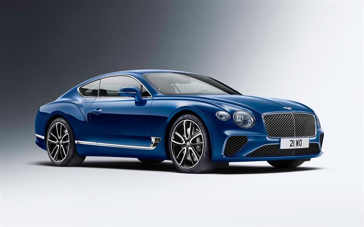 Hämta bilder Bentley Continental GT, studio, Bilar 2018, nya Continental GT, supercars, Bentley