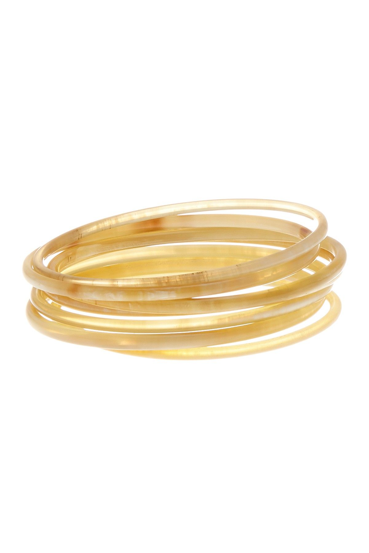 Skinny blonde bangles set of in products pinterest