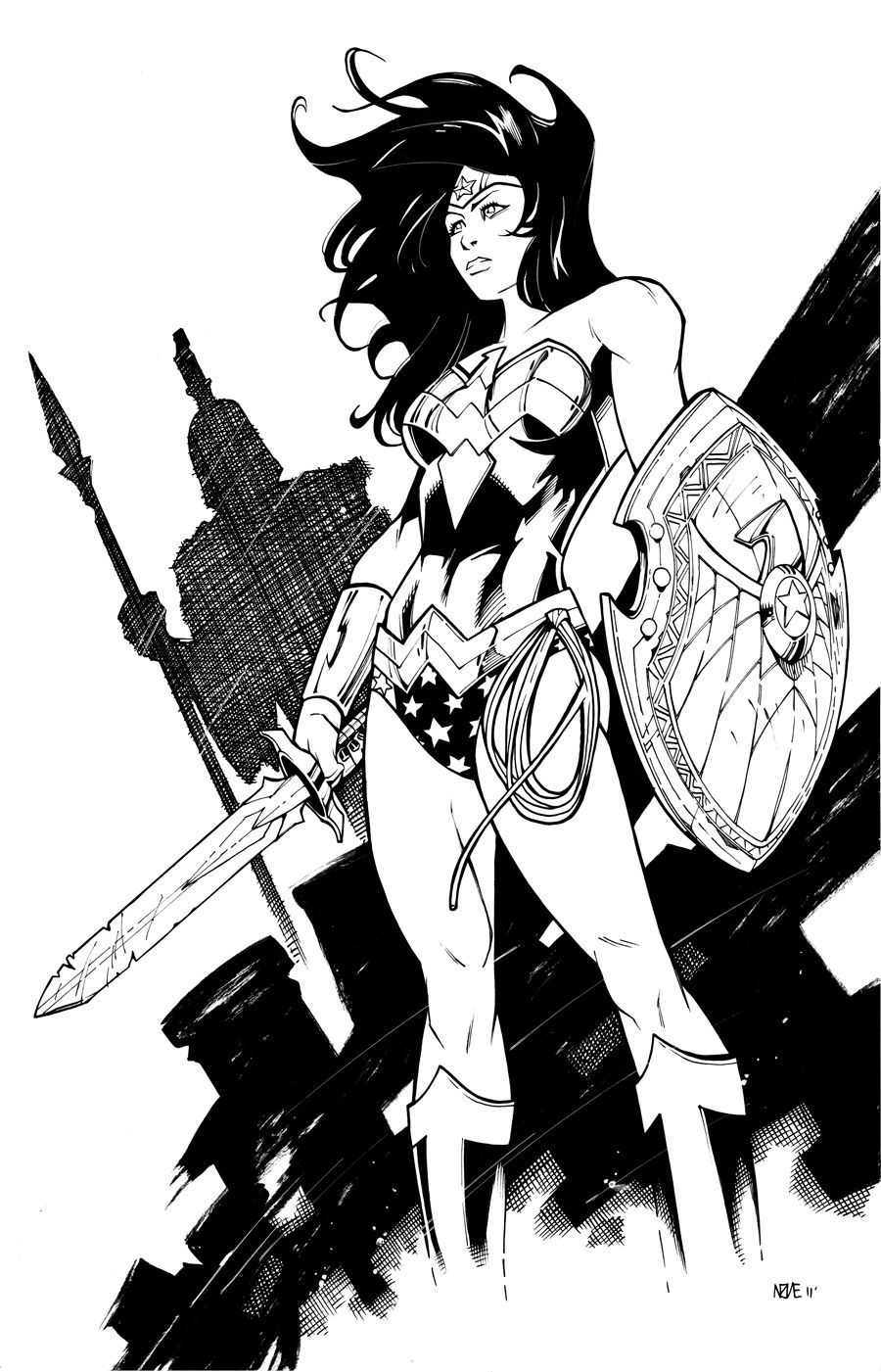 Wonder Woman 3 By Olivernome Lineart Dc S Trinity Pinterest
