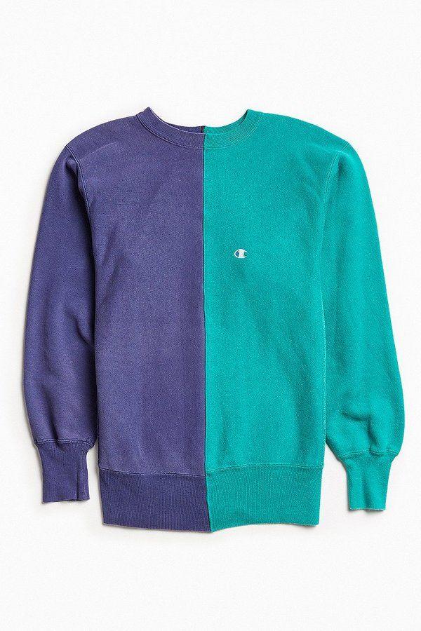 ac9fd1bd5647 Urban Outfitters Vintage Vintage Champion Lavender Green Split-Seam Crew  Neck Sweatshirt